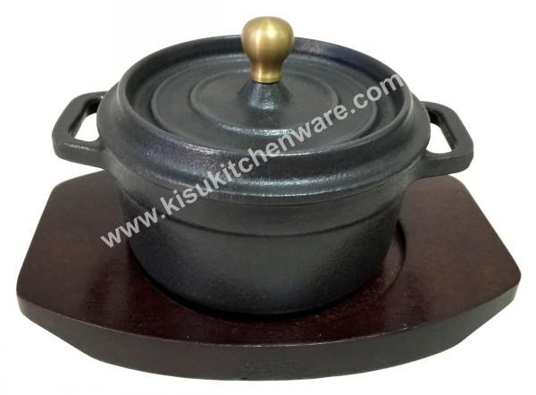 Cast iron mini round casserole 5A10MN2
