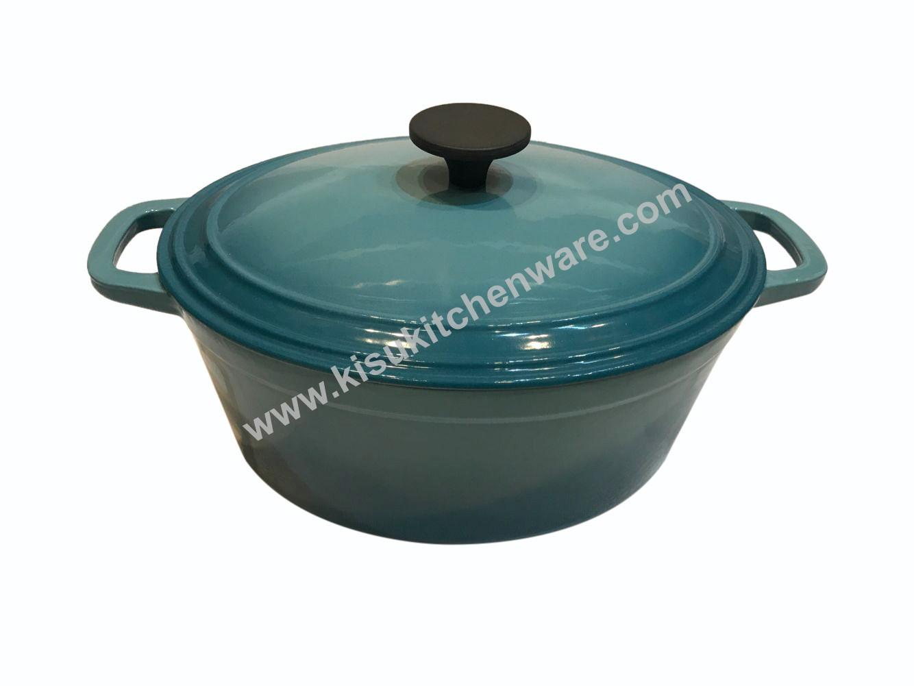 Cast iron oval casserole 5B29F10