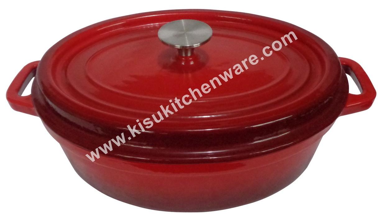 Cast iron oval casserole 5B30K10