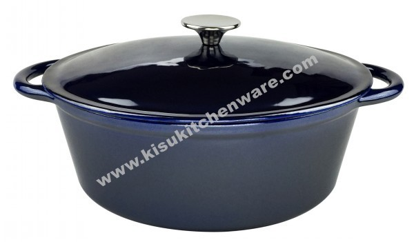 Cast iron oval casserole 5BA10