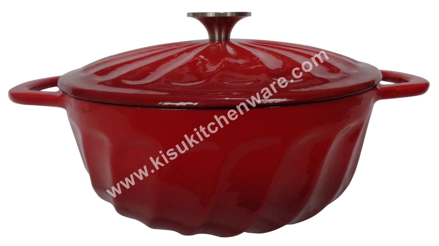 Cast iron round casserole 5A24Q10