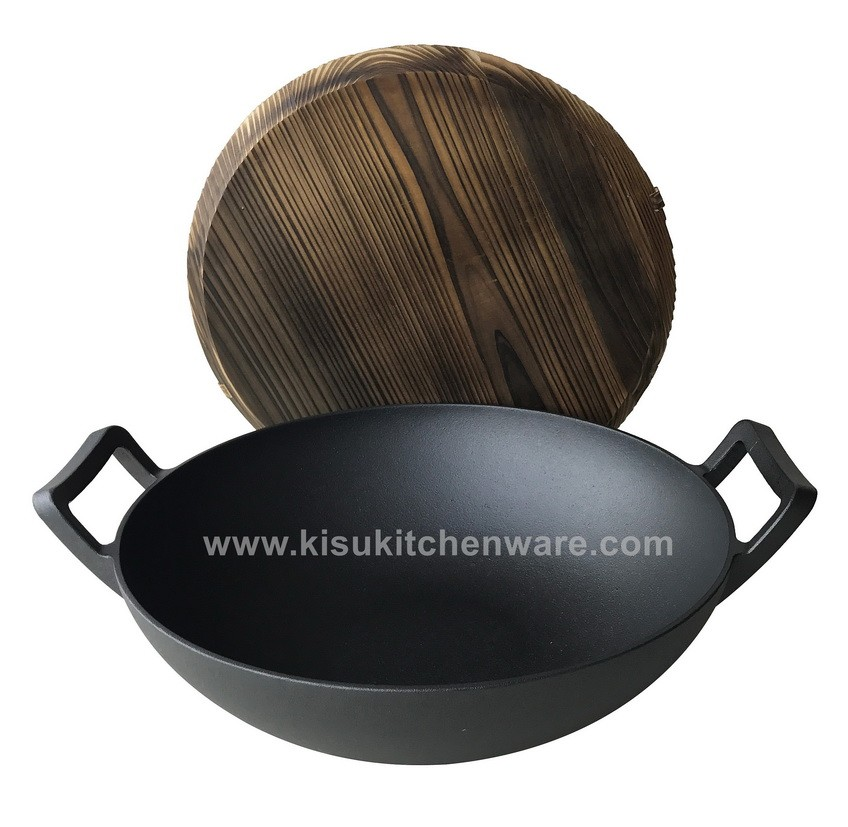 Cast iron wok 5L36G10