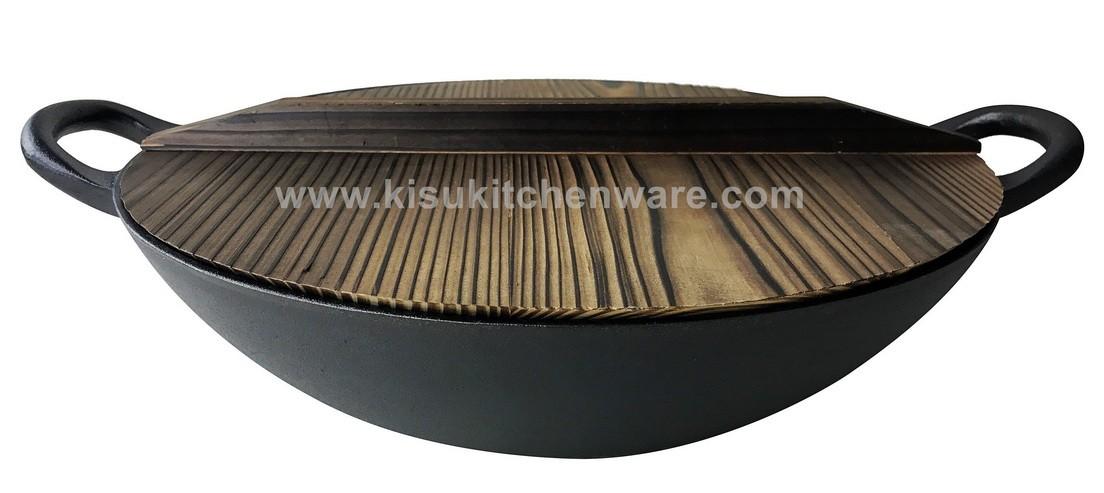 Cast iron wok 5LC10